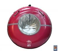"""Санки надувные """"Тюбинг RT 8"""" Cherry (Спелая вишня) с пластиковым дном верх-ПВХ диаметр 110 см"""