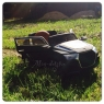 Детский электромобиль Bugatti KT6576 с надувными колесами и кожаным сиденьем
