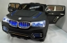 Детский электромобиль BMW X9 с надувными колесами и кожаным сиденьем